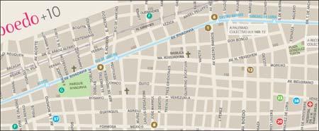 Interaktiv karta för stadsdel i Buenos Aires