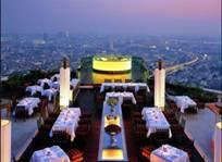 Thailand – Se ut över Bangkok från takteras på Skyskrapor