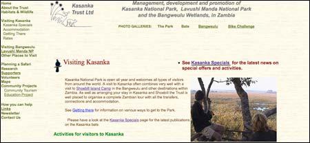 Volontär i nationalpark i Zambia