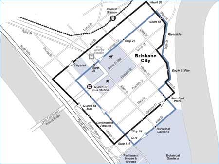 Australien – Gratis buss i centrala Brisbane