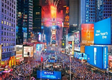 Miljoner firar nyår i New York