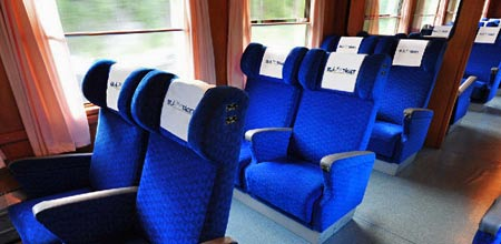 Res med nya Blå Tåget i Sverige