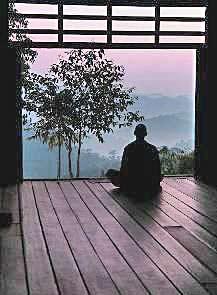 Meditation och välbefinnande i Thailand