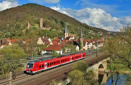 Med tåg i Tyskland