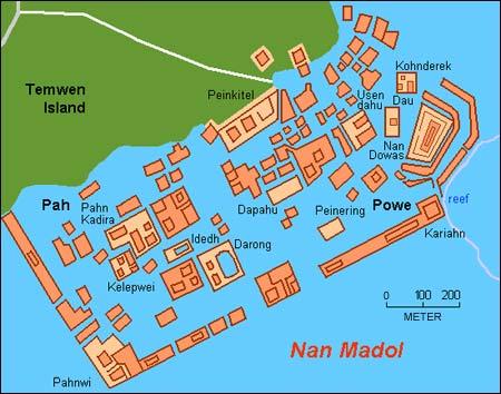 Ruinstad på 100 miniöar i Söderhavet