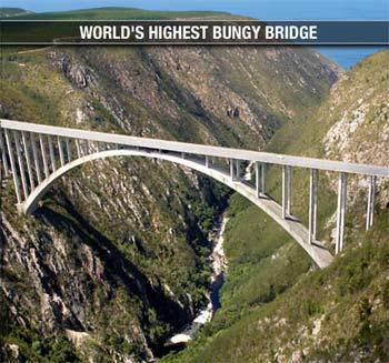 Världens högsta bungy i Sydafrika