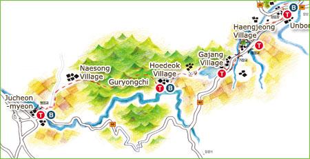 Vandra förbi hundra byar i Sydkorea
