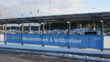 Fler laddplatser för elbilar på Arlanda flygplats