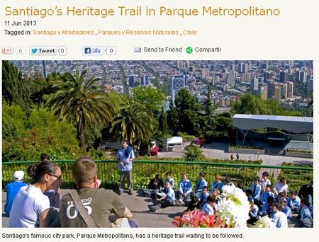 Parkvandring med utsikt över Santiago