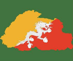 bhutan-flagga-karta-fram