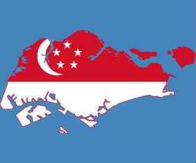 singapore-flagga-karta-fram