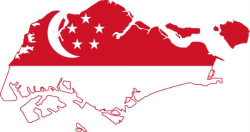 singapore-flagga-karta