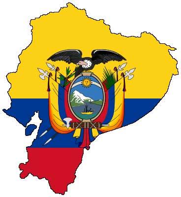 ecuador-karta-flagga